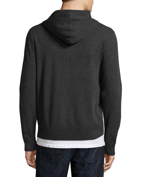 Tech Zip-Front Hoodie, Charcoal