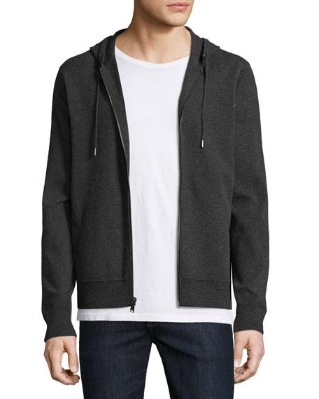 Michael Kors Tech Zip-Front Hoodie, Charcoal