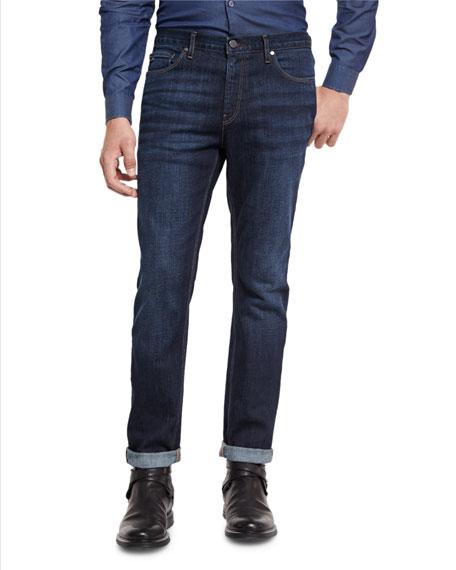 Slim-Fit Straight-Leg Jeans, Indigo
