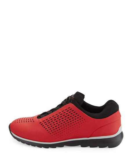 Techmerino Rubberized Sneaker, Red
