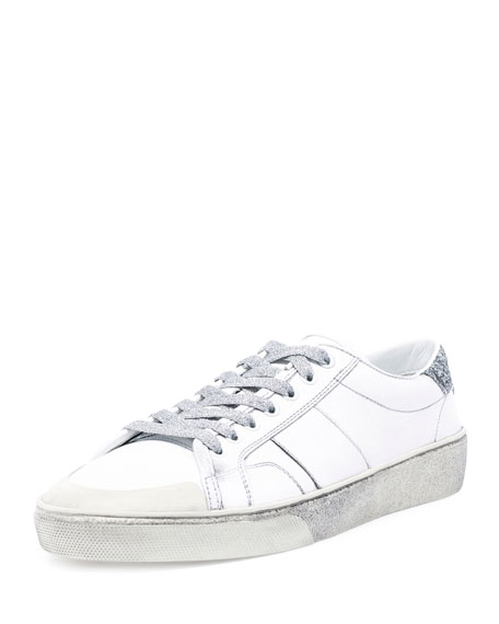 Prada White Distressed Jersey Sneakers qDEfN9Y8bF