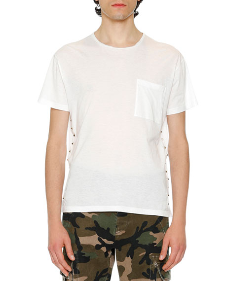 Rockstud Pocket T-Shirt, White