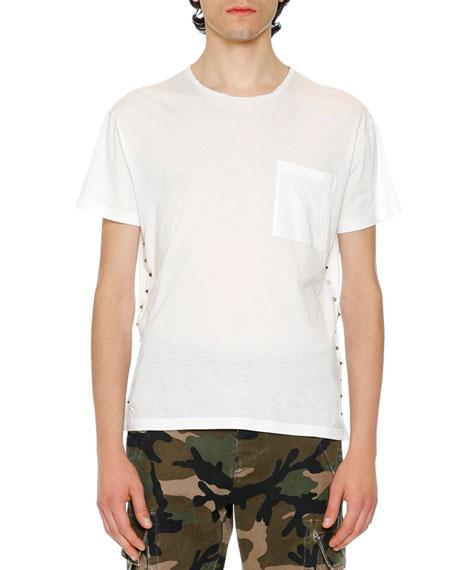Valentino Rockstud Pocket T-Shirt, White