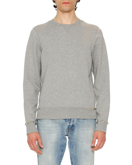 Rockstud Untitled Sweatshirt, Gray