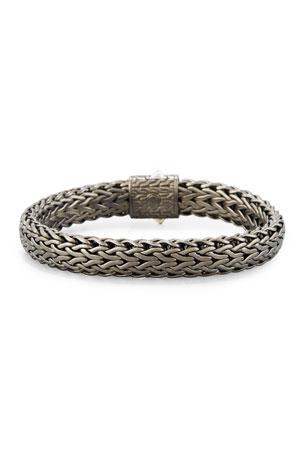 John Hardy Men's Flat Classic Chain Bracelet, Dark Silver