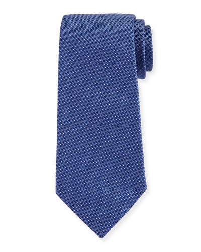Woven Neat Micro-Dot Tie, Blue