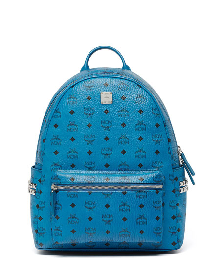 MCM Stark Side Stud Medium Backpack, Munich Blue