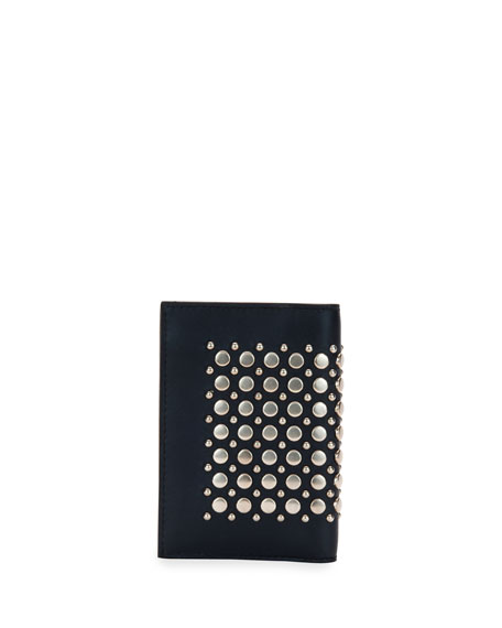 Runway Studded Bi-Fold Card Case, Blue Marine