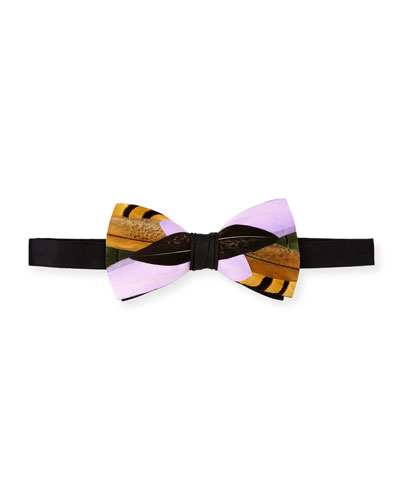 Hamish Feather Bow Tie, Lavender