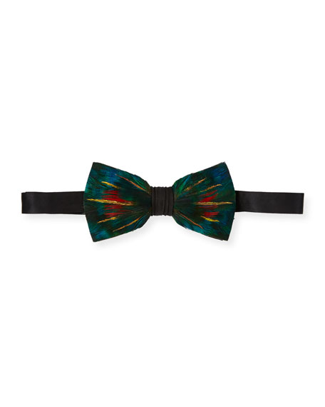 Brackish Bowties Leonardo Feather Bow Tie