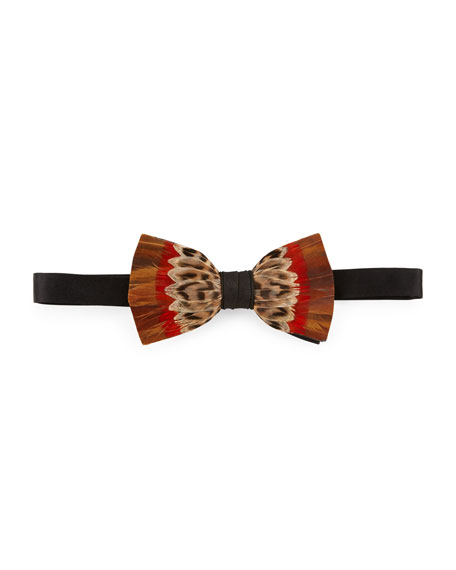 Brackish Bowties Kruger Feather Bow Tie