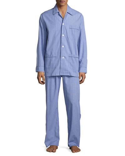 Glen Check Cotton Pajamas, Multi