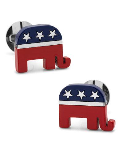 Republican Elephant Cuff Links