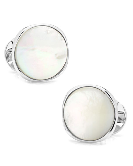 Cufflinks Inc. Mother of Pearl Round Cuff Links