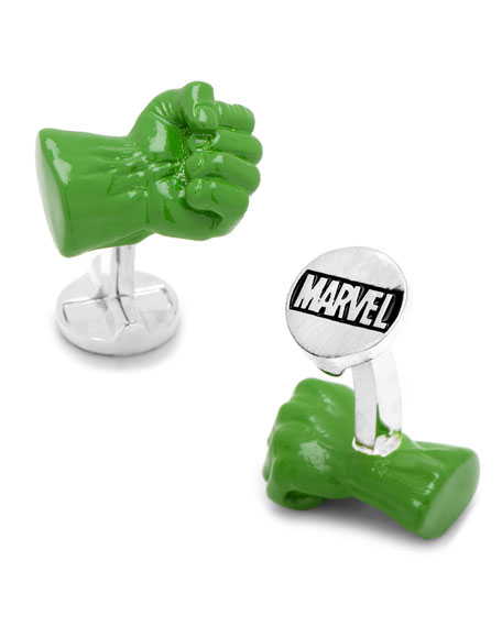 Cufflinks Inc. 3D Hulk Fist Cuff Links
