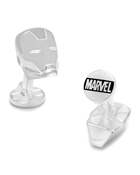 Cufflinks Inc. Iron Man Sterling Silver Cuff Links