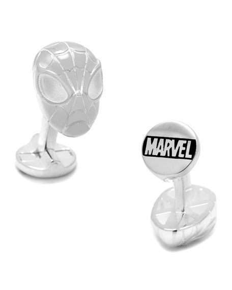 Cufflinks Inc. Spiderman Sterling Silver Cuff Links