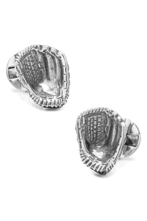 Cufflinks Inc. Sterling Silver Baseball Glove Cuff Links