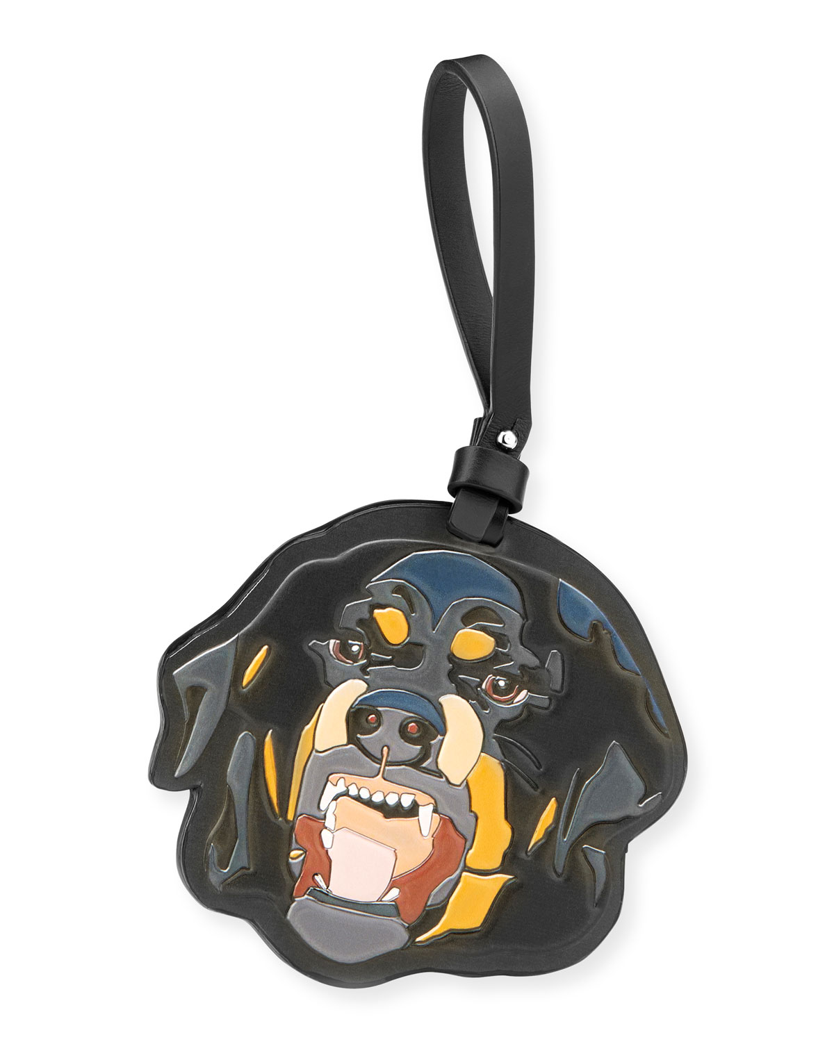 f5ce11982a Givenchy Men s Leather Rottweiler Charm for Bag or Briefcase