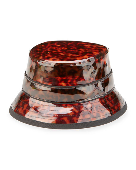 Givenchy Tortoise Vinyl Camper Hat, Brown