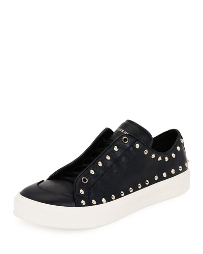 60f812898f1 Alexander McQueen Men s Studded Leather Low-Top Sneakers