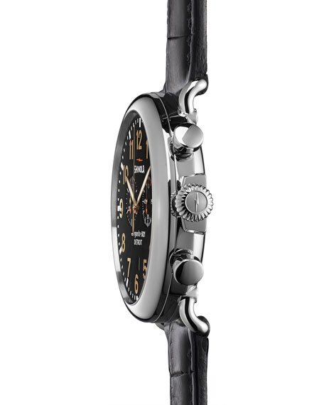 Men's 47mm Runwell Chronograph Men's Watch, Black