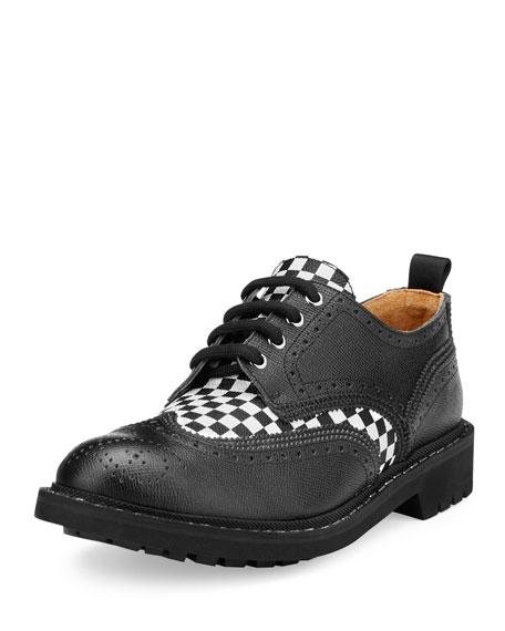 Givenchy Checkerboard Commando Derby Shoe, Black/White