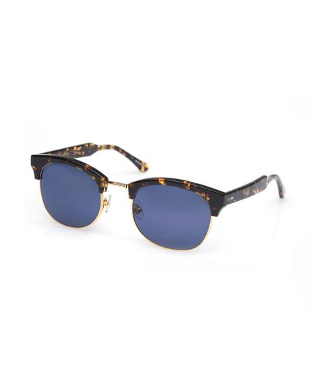 KREWE LGD Half-Rim Sunglasses, Bengal