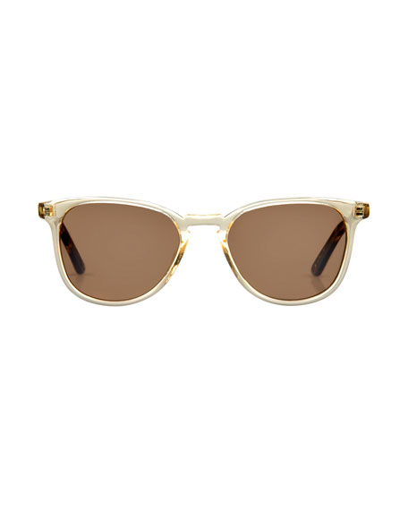 Olivier Polarized Acetate Sunglasses, Champagne & Rue Tortoise