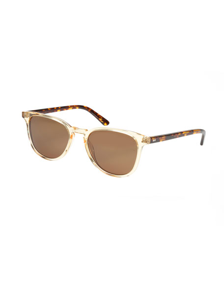 KREWE Olivier Polarized Acetate Sunglasses, Champagne & Rue