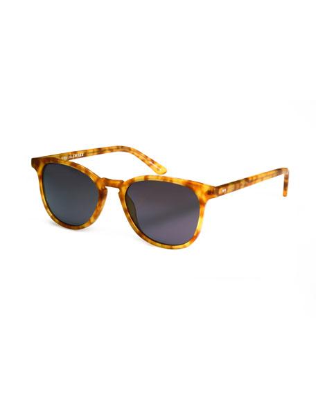 KREWE Olivier Gradient Acetate Sunglasses, Matte Rum Tortoise