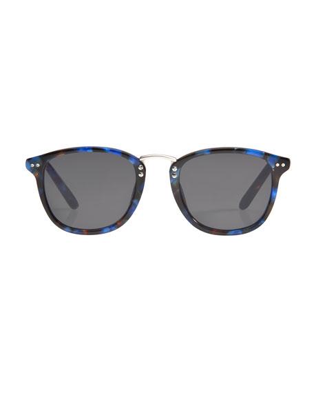 Franklin Acetate Sunglasses, Blue Steel