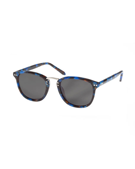KREWE Franklin Acetate Sunglasses, Blue Steel