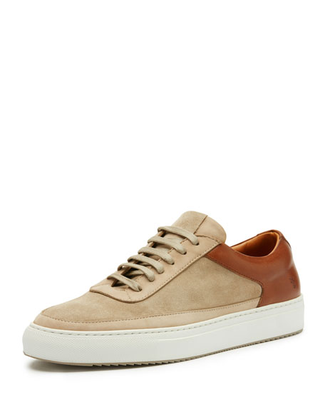Clyde Suede & Leather Low-Top Sneaker, Taupe