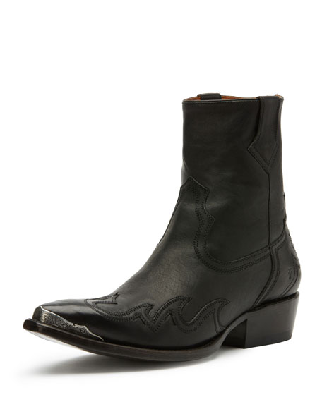 Lou Metal-Toe Western Boot, Black