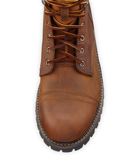 Ethan 1955 Cap-Toe Lug Boot, Dark Walnut