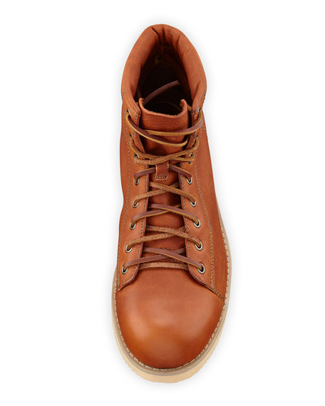 Devy 1955 Leather Lace-Up Boot, Peanut