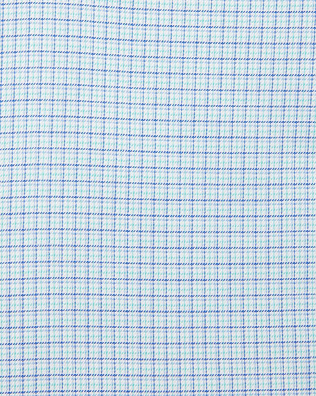 Check Plaid Dress Shirt, Blue
