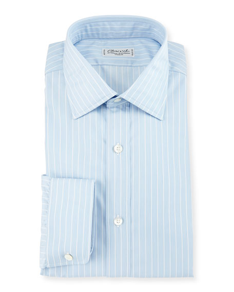 Charvet Striped Dress Shirt, White
