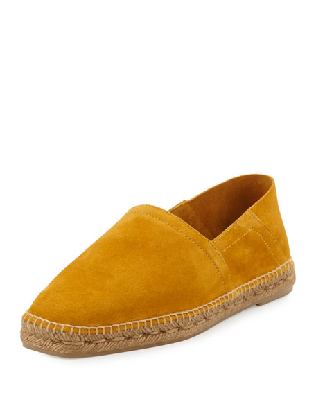 TOM FORD Barnes Suede Espadrille, Yellow