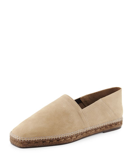 Barnes Nubuck Leather Espadrille, Tan
