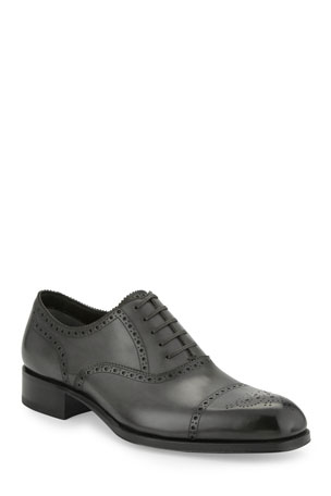 TOM FORD Edgar Medallion Cap-Toe Shoe