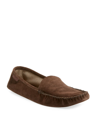 Howard Suede Travel Slipper, Chocolate