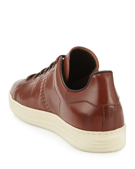 Men's Warwick Leather Low-Top Sneakers, Brown