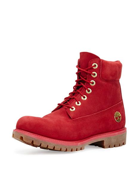 """6"""" Premium Waterproof Hiking Boot, Red"""