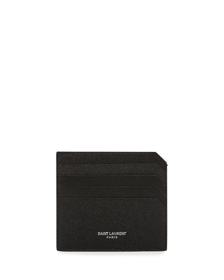 7b3f1d5a1a3 Saint Laurent Men's Fragments Leather Credit Card Holder, Black | Neiman  Marcus