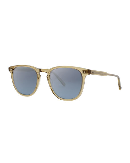 Garrett Leight Brooks 47 Square Sunglasses, Bottle Glass