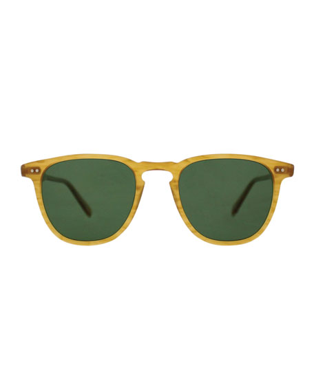 Brooks 47 Square Polarized Sunglasses, Butterscotch