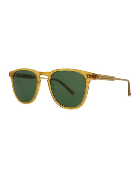 Garrett Leight Brooks 47 Square Polarized Sunglasses,