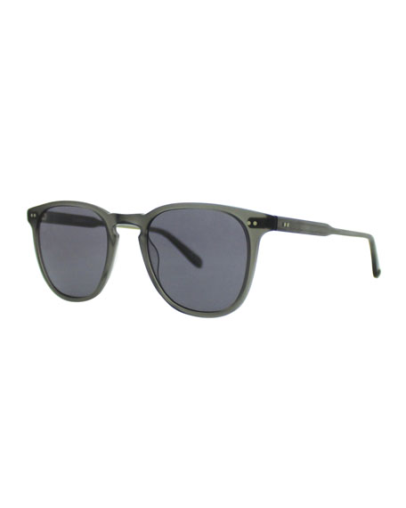 Garrett Leight Brooks 47 Square Polarized Sunglasses, Matte
